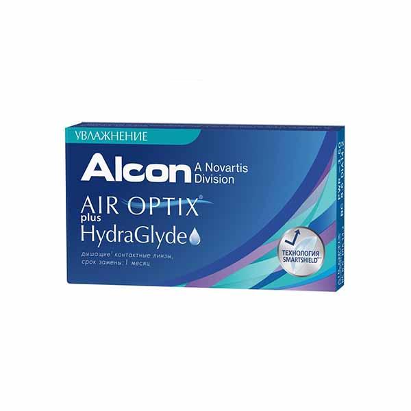 Air Optix plus HydraGlyde (6 линз)